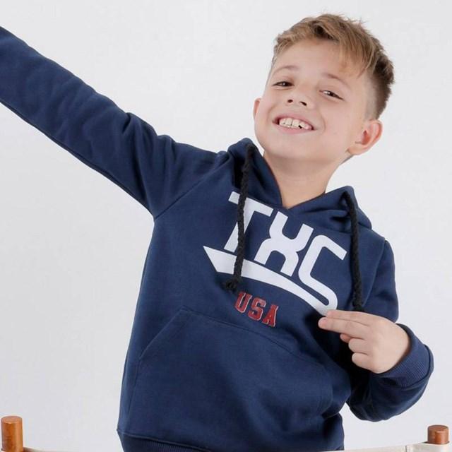 Moletom TXC Infantil Azul Marinho 3052I