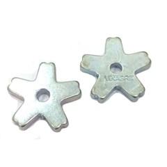 Roseta Profissional de Metal para Montaria em Touro 5 Pontas Vinagre 3082