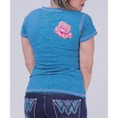 T-Shirt Miss Country Azul Mescla 272