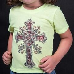 T-Shirt Miss Country Infantil Metalic Cross Neon 328