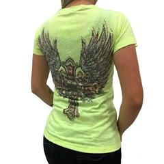 T-Shirt Miss Country Metalic Cross Neon 327