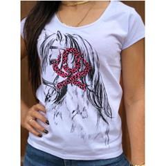T-Shirt Ox Horns Branco/ Estampa 6087