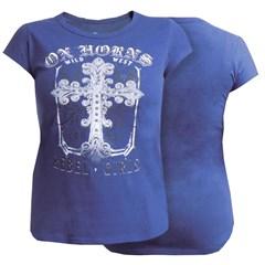 T-Shirt Ox Horns Feminina Azul Marinho/ Estampa 6025