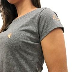 T-Shirt Ox Horns Feminina Chumbo 8021