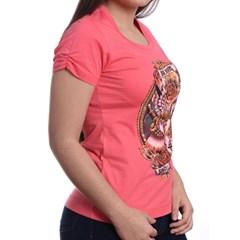 T-Shirt Ox Horns Feminina Rosa/Estampa 6003