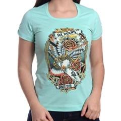 T-Shirt Ox Horns Feminina Verde Claro/Estampa 6004