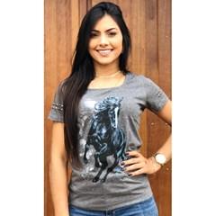 T-Shirt Ox Horns Grafite Mescla/ Estampa 6080