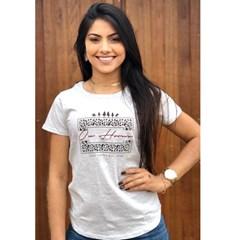 T-Shirt Ox Horns Mescla Gelo/ Estampa 6084