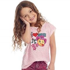 T-Shirt Tassa Infantil Rosa Claro/Estampado 4390.1